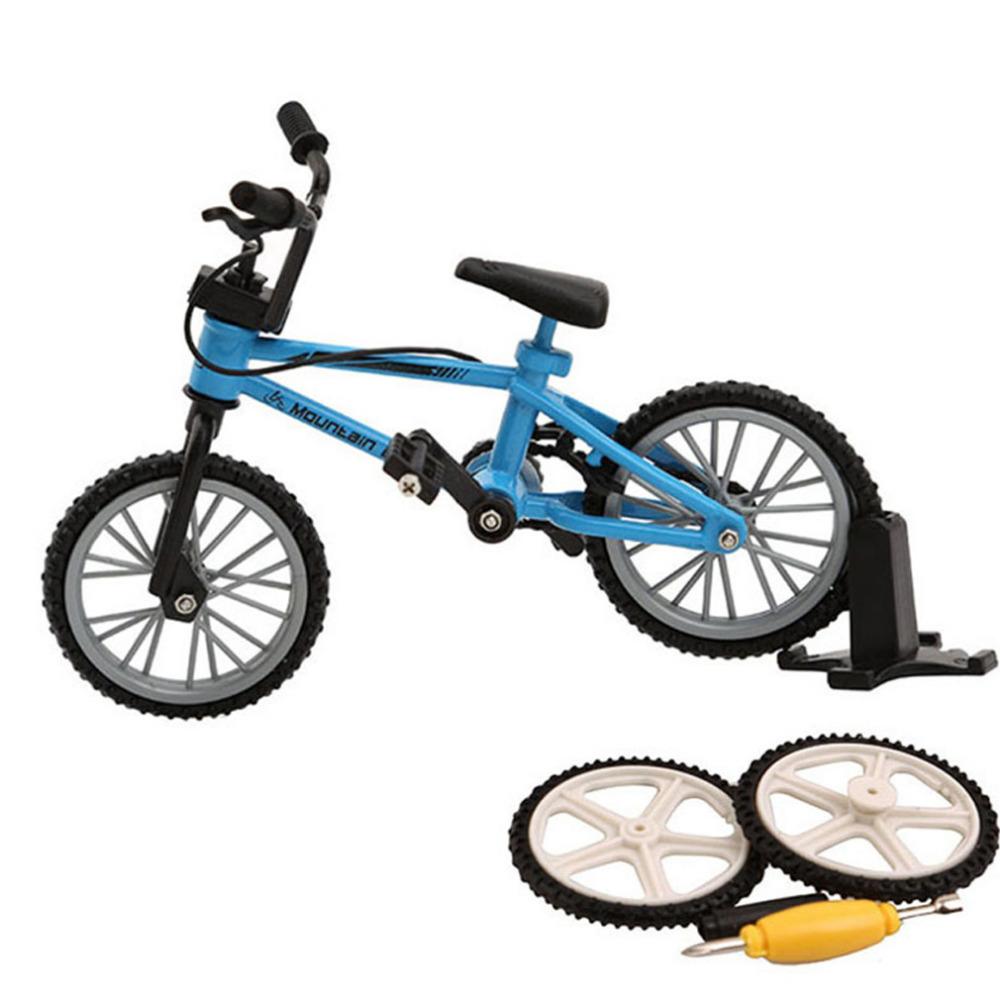 Alloy mini BMX Finger Mountain Bikes Toys Retail Box + 2pcs Spare Tire mini-finger-bmx Bicycle Creative Game Gift for children(China (Mainland))