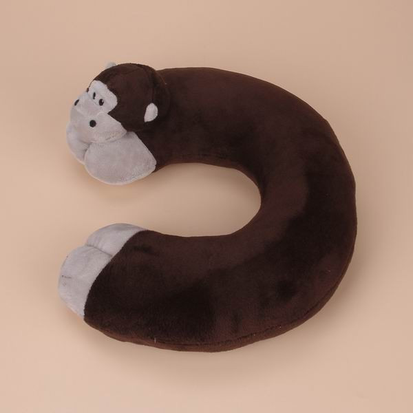 2014 Baby Animal Monkey Neck Protecting U Shape Pillow PP Cotton Stuffed & Plush Pad For Kids Traveling Sleeping Naps(China (Mainland))