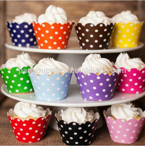 Кексы в формочках бумажной