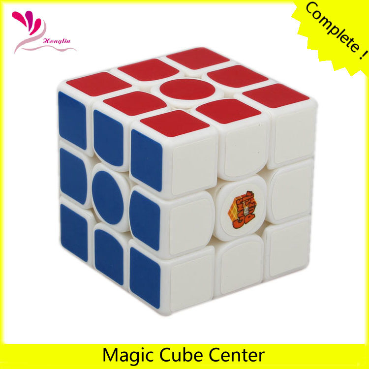 New set of 3x3 white twist puzzle Spring Speed magic cubes for adult ABS mini IQ 56mm magic cubes(China (Mainland))