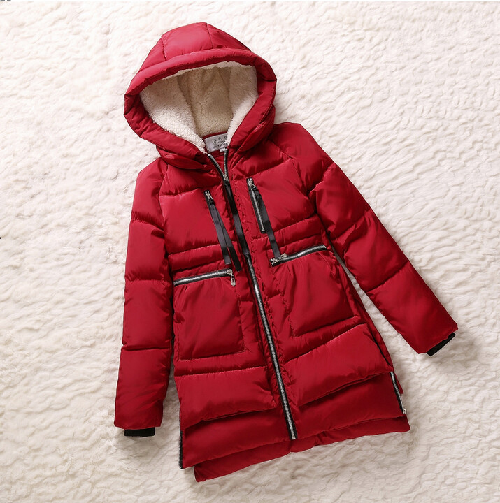 New 2016 Winter Women Wadded Jacket Red Female Outerwear Plus Size 5XL Thickening Casual Down Cotton Wadded Coat Women Parkas(China (Mainland))