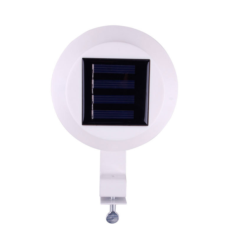 3 led solar powered fence gutter light outdoor garden wall