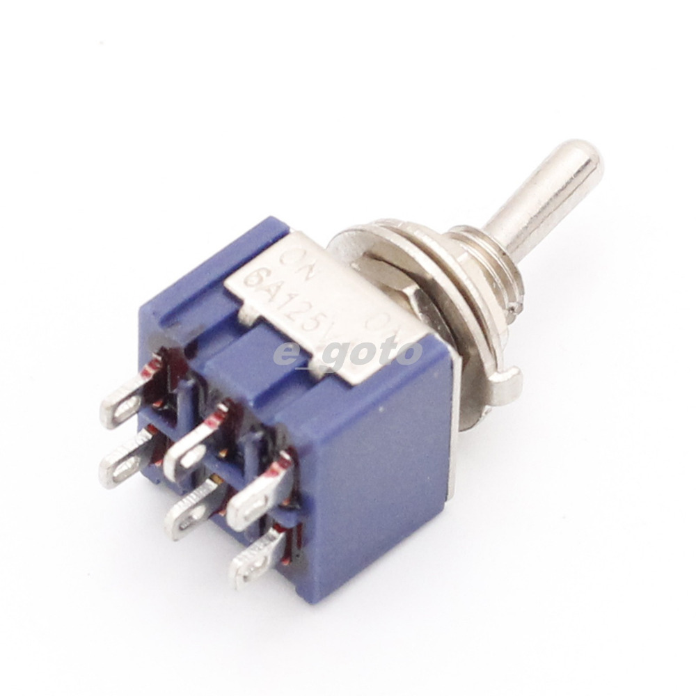 10Pcs MTS-202 Mini Toggle Switches 3-Pin 6A 125V / 3A 250V AC Slide Switch(China (Mainland))