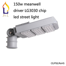 Free shipping high power 150W led street light AC85-277V with meanwell Driver LG3030 chip garden lamp  IP67  3pcs/lot(China (Mainland))