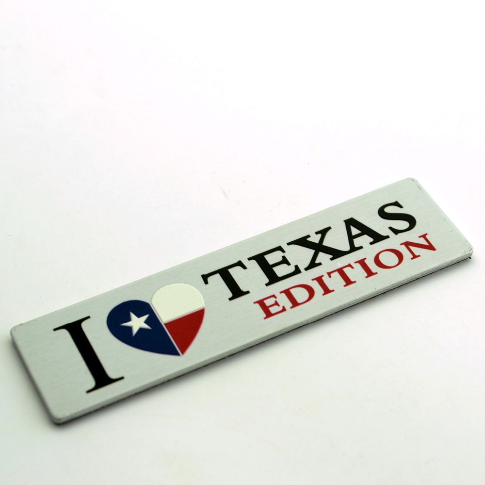 I love TEXAS State Flag EDITION emblem Fit for Chevrolet Silverado Tailgate Door panel Emblem(China (Mainland))