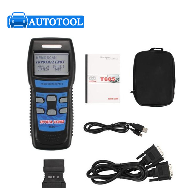 Excellent Performance Memoscan T605 for TOYOTA/LEXUS Cars OBD2 Fault Code Reader T605 OBD2 code reader free shipping(China (Mainland))
