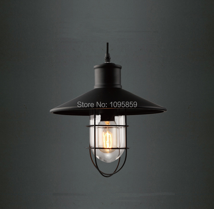 Фотография Free Shipping Vintage Industrial Clear Glass Shade Dining Room Metal Bird Cage Pendant Lights Lamp Ceiling Fixture Lighting