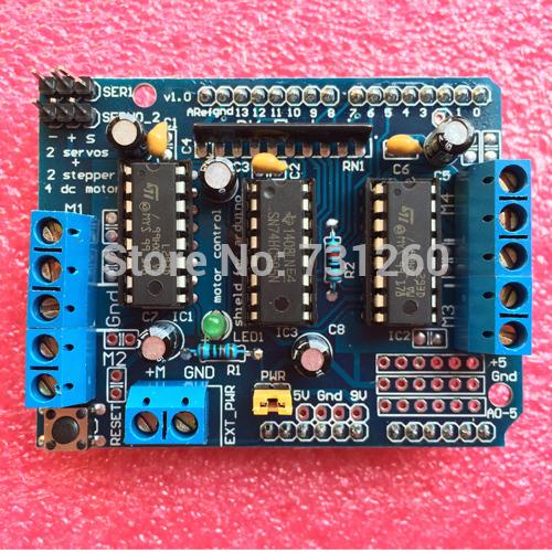 L293D Motor Drive Shield dual for arduino Duemilanove, Motor drive expansion board(China (Mainland))