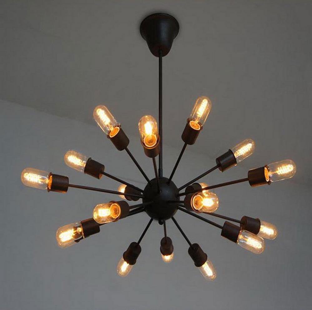 Brand New 2015 Classical Nostalgic Industrial Style Man-made Setellite Pendant Light Vintage Art Spider Suspension Lamp 18 light(China (Mainland))