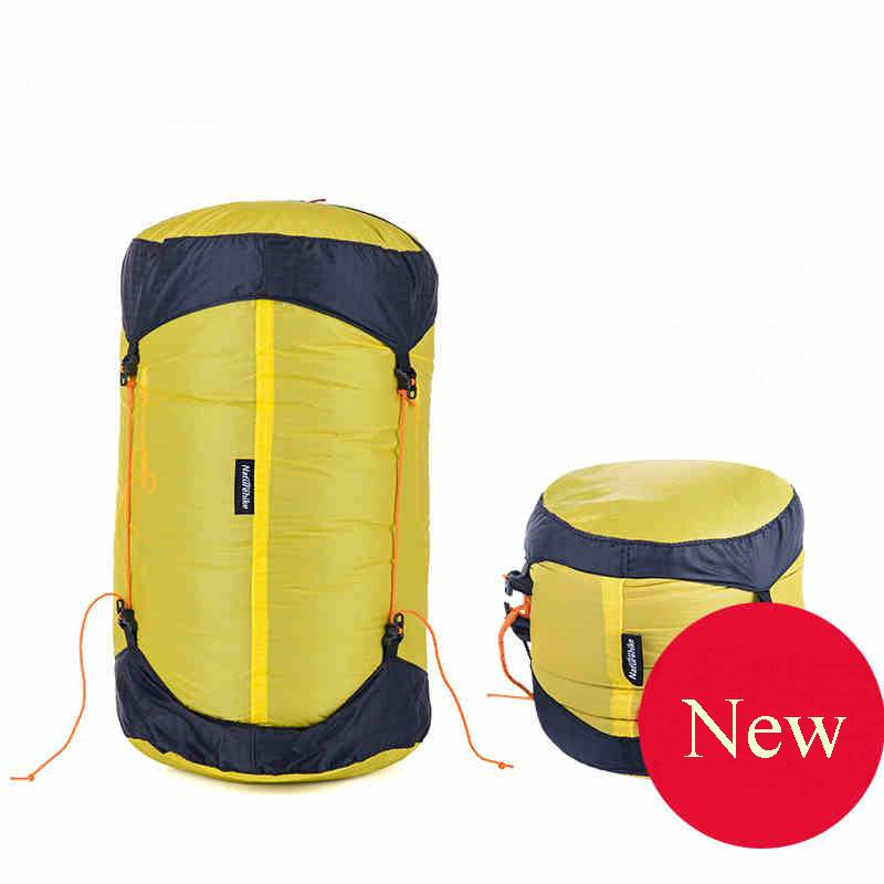 Outdoor 20D Coating Nylon Compression Bags Waterproof Storage Solid Durable Sack For Sleeping Bag Clothes Travel Easy Carry(China (Mainland))