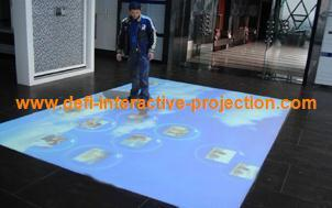 Interactive floor system and wall system with 111 effects for advertising,