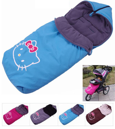 Детские товары   Thickening baby stroller cotton pad baby cushion car umbrella socks sleeping bag windproof hood baby car cover FREE SHIPPING