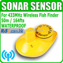 Lucky FFW718S Replacement Spare Sonar 433MHz Water Temperature Wireless Fish Finder Sensor(Hong Kong)