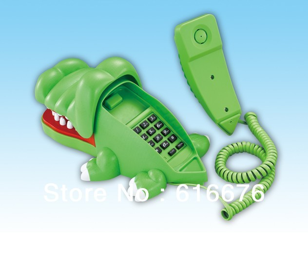item  NEW Cartoon phone Big Mouth crocodile Phone creative landline