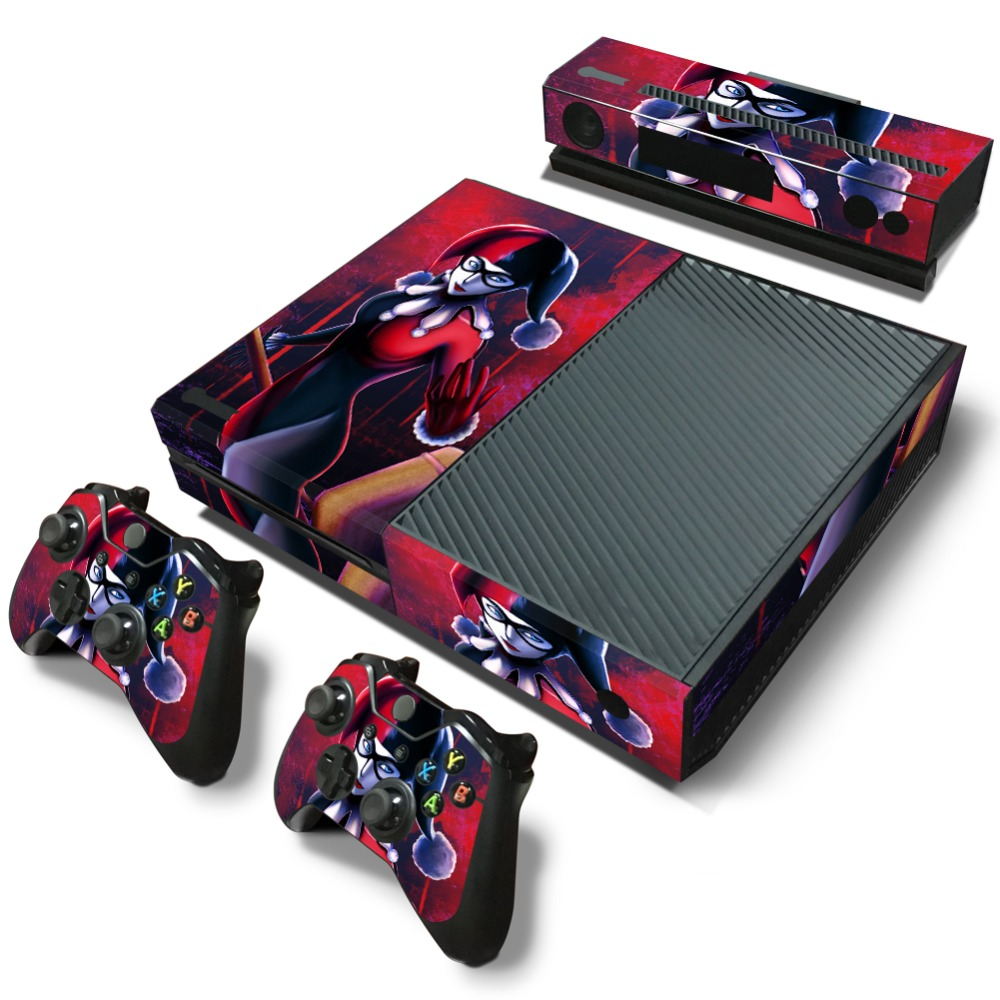 harley quinn sticker for xbox one games vinyl decal for controle xbox one console kinect. Black Bedroom Furniture Sets. Home Design Ideas