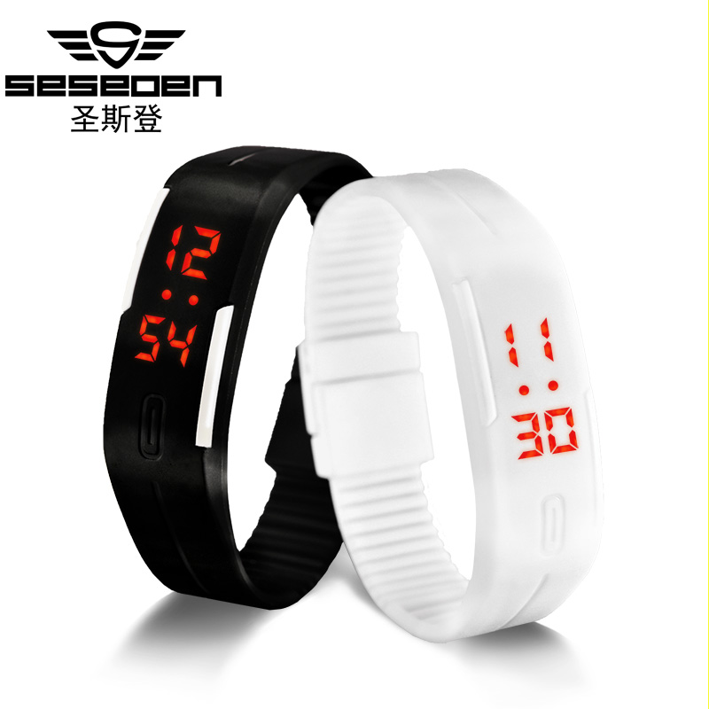 Seseden Touch Screen LED Bracelet Digital Watches For Men&Ladies&Child Clock Womens or Wrist Watch Sports Wristwatch Saat(China (Mainland))