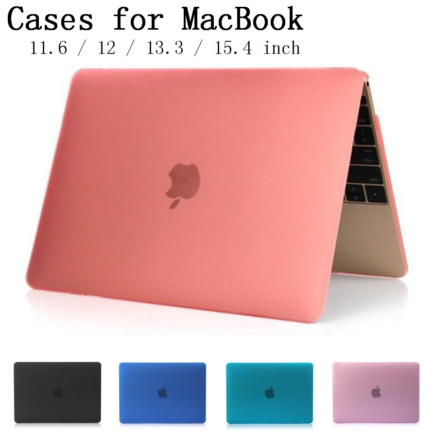 New Crystal/Matte shell case cover for Apple Macbook Air Pro Retina 11.6 12 13.3 15.4 inch laptop Cases For Mac book bag,SKU132A(China (Mainland))