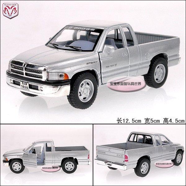 1:44  dodge  ram 1500 truck silver alloy car model free air mail