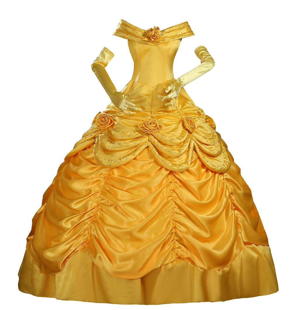 Belle robe jaune promotion achetez des belle robe jaune promotionnels sur - Robe la belle et la bete adulte ...