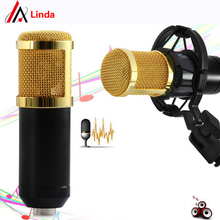 BM - 800 High Quality Professional Condenser Sound Recording Microphone with Shock Mount for Radio Braodcasting Singing Black(China (Mainland))