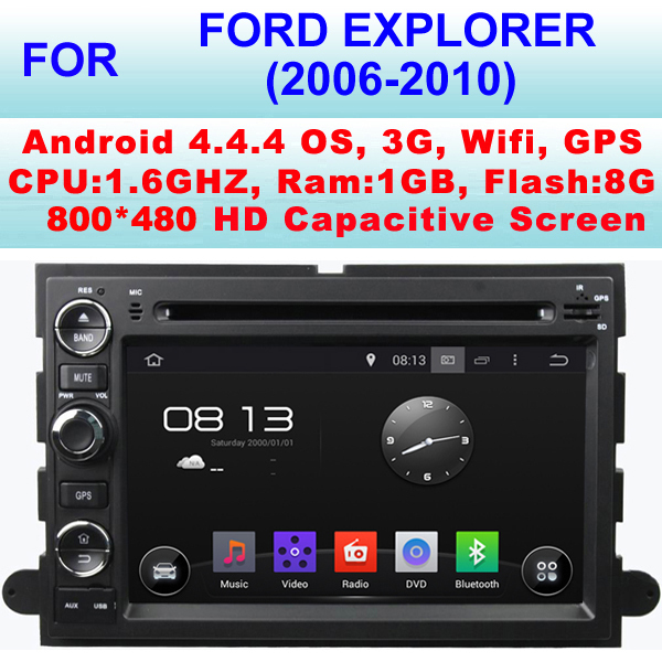 For Ford Explorer Car DVD Player (2006-2010) With Android 4.4.4,Multi-Language OSD Menu,Support 1080P HD Video Playback(China (Mainland))