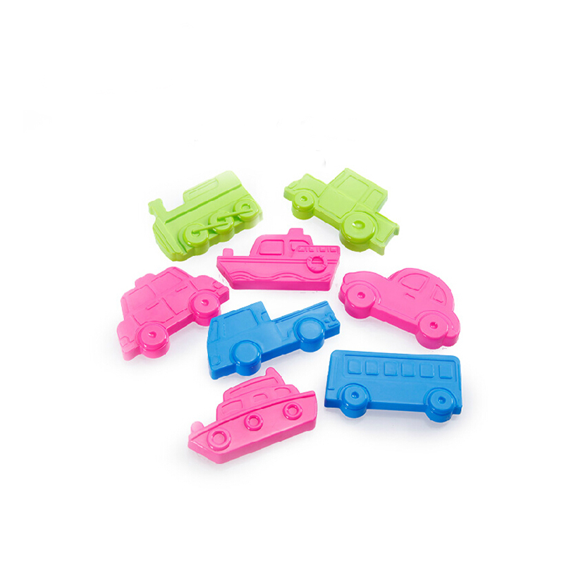 Transportation tool 8 Pieces/lot1 Set Color Play Dough Model Tool Toys Creative 3D Plasticine Tools Playdough Set Polymer Clay(China (Mainland))