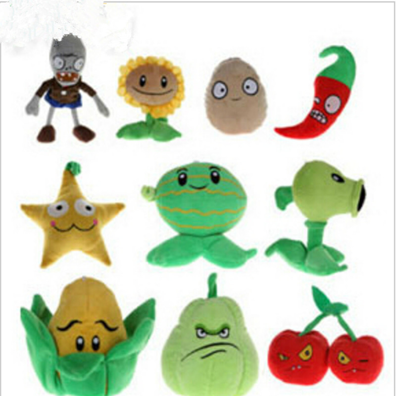 1pcs 10-18cm 8 Styles Plants vs Zombies Plush Toys Soft Stuffed Plush Toys Doll Baby Toy for Kids Gifts Party Toys(China (Mainland))
