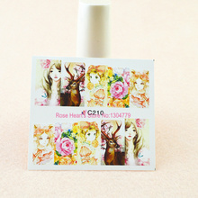 4PCS beauty lol girl design water transfer nail stickers decals nail art decoration manicure tools flower
