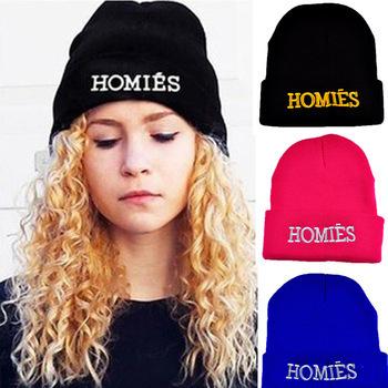 Мода свободного покроя новый бренд корешей шапочки шляпа вязаный шерстяной шляпы ...