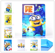 new Anime Cartoon Despicable Me Minion Flip Wallet Stand PU Leather Case Cover Protector Defender For Apple Ipad mini mini 2 3(China (Mainland))