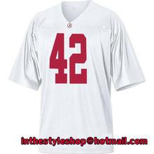 Alabama Crimson Tide #42 Eddie Lacy White College Football Jerseys with 100% stitched(China (Mainland))