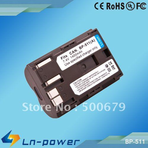 Camera Battery, Camera Accessories, Digital Camera Battery Pack for Canon BP-511