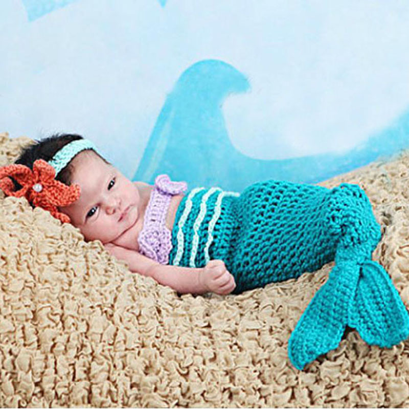 Aliexpress.com : Buy Baby Infant Mermaid Tail Shells Photo ...