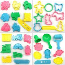 9pcs, BOHS Play Dough Playdough Polymer Clay Vehicles Animals Garden kaleidoscope Mold Tools Set Kit, Handcraft Essentials(China (Mainland))