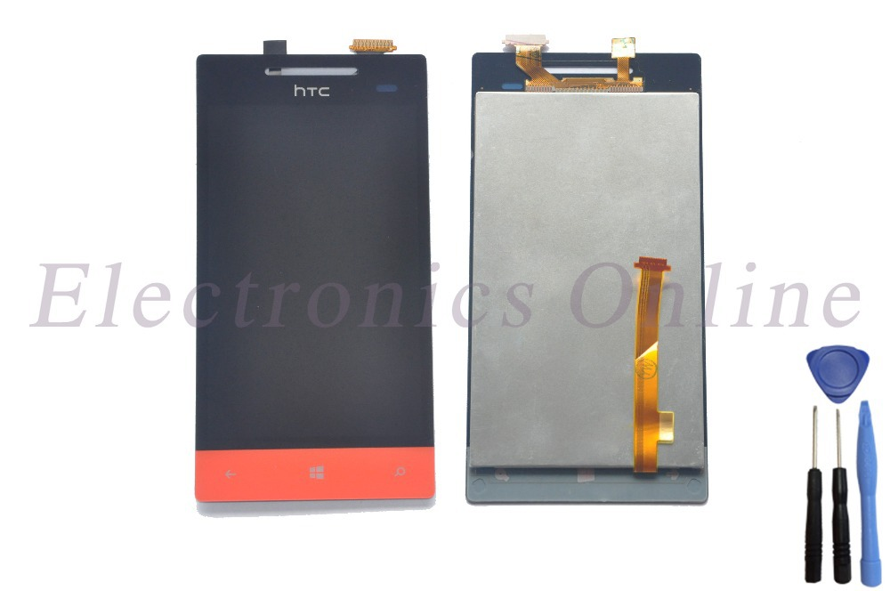 High Quality Red Color Assembly Replacement 4'' LCD Display + Touch Screen Digitizer Glass Panel For HTC 8S Free Shipping + Tool(China (Mainland))