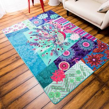 Красочный коврик, павлин ковер, 120 x 170 см, салон ковров, моющиеся ковры