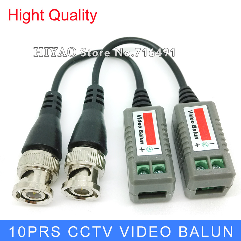 Freeshipping 10 Pairs BNC CCTV Video Balun passive Transceivers UTP Balun BNC Cat5 CCTV UTP Video Balun BNC up to 2000ft Range(China (Mainland))
