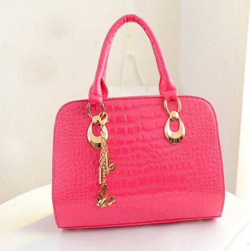 2015 Fashion Women Handbag Gorgeous Crocodile Print and Metal Pendant Design Women's Tote Bag Promotion High Quality(China (Mainland))
