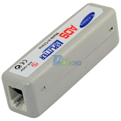 Office Home Rectangle ADSL Broadband Modem Phone Line Splitter Filter Grey(China (Mainland))