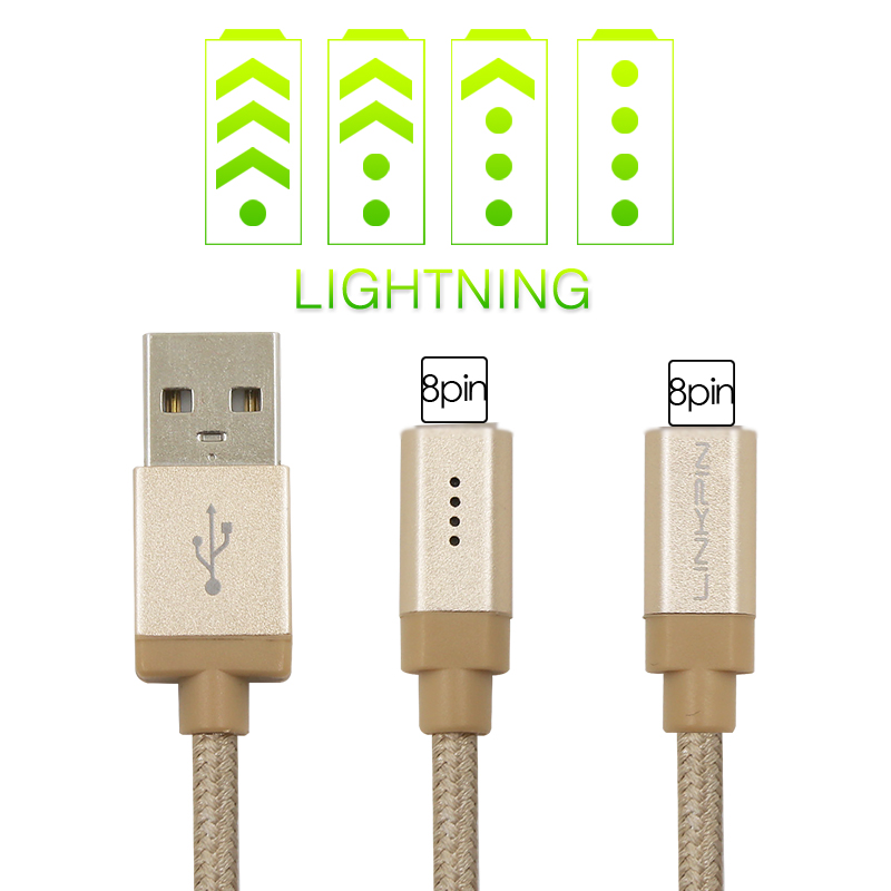LP MFI Certified Fast charging 1M LED USB Charger Cable USB Sync Data cable for Apple iPhone 6 6s plus 5s 5 iPad Air iPod touch(China (Mainland))