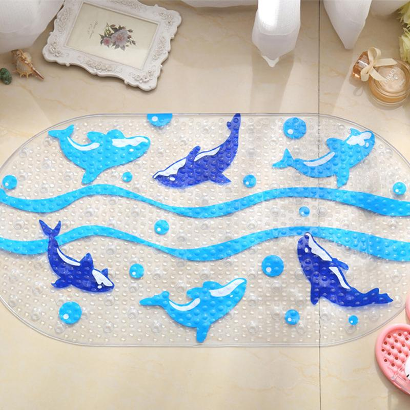 Cartoon Dolphin PVC Bath Mat Anti-Slip Bath Mats Suitable For Car Bathroom Toilet Foyer Floor Carpet(China (Mainland))