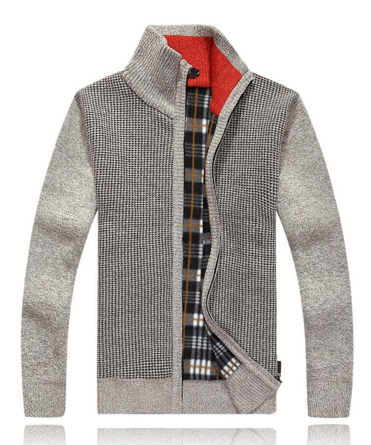 Mens zipper hooded cardigan knitted cashmere sweater china sweaters
