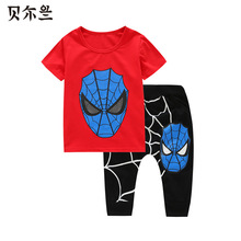 Spiderman Baby Boys Kid SportsWear Tracksuit Outfit cartoon Suit Summer kids boys clothes(China (Mainland))