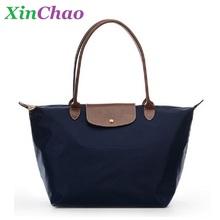 2016 Women Brand Handbags Tote Top-handle Bags Female Nylon Dumplings Candy Color Solid Shoulder Bag Sac A Main Femme De Marque