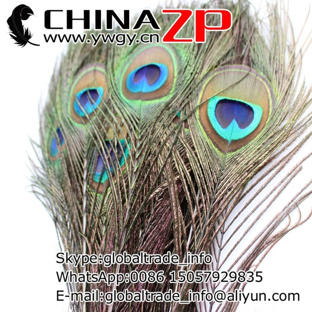 CHINAZP Factory 500pcs/lot length 110-120cm Natural Full Eye Peacock Feathers Free shipping FEDEX/DHL/EMS