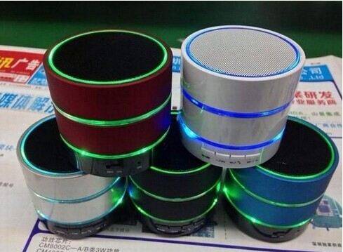 S09 Mini Portable Wireless Bluetooth Speaker Speakers Hi Fi Music Player With Three Rings of Light Micro SD TF Mic USB Earphone(China (Mainland))