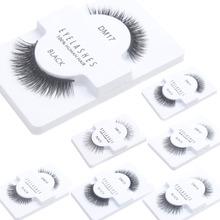 Black 1 Pair False Eyelashes 100% Human Hair Strip Lash Fake Eye Lashes DM11-DM19(China (Mainland))