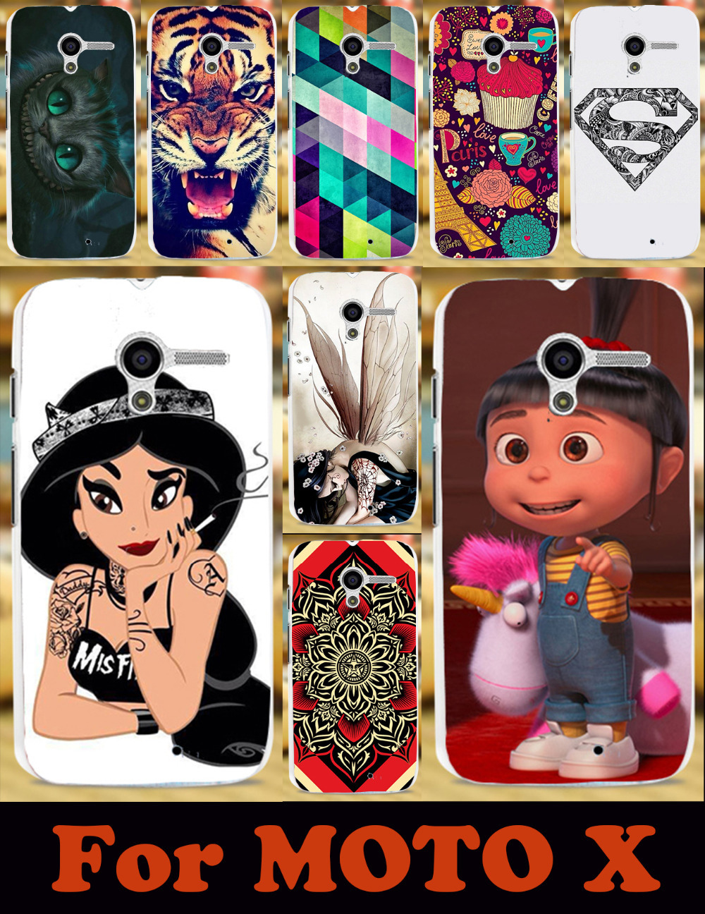 22 photos painted mobile phone case protective case for Motorola X MOTO X XT1055 XT1053 XT1056 XT1058 hard Back cover Skin Shell(China (Mainland))