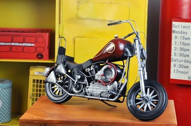 motorcycle antique iron handmade car model home furnishings Christmas gifts(China (Mainland))
