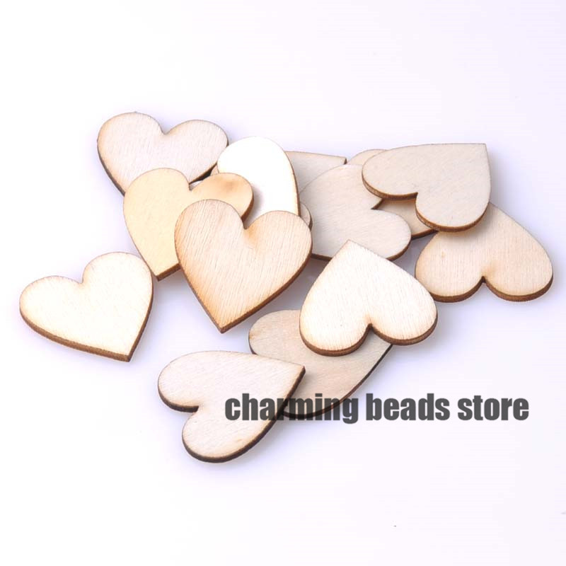 20mm Natural wooden Heart Scrapbooking Carft for Home decoration 200pcs MT0588-20(China (Mainland))